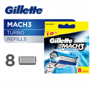 Mach3 Turbo Razor Cartridge Refills 8s