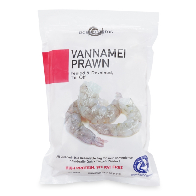 Frozen Vannamei Prawn ( Tail Off) 454gm