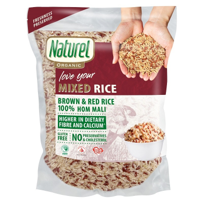 Organic Brown & Red Rice 2kg