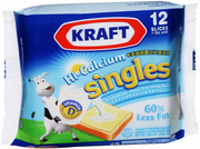 Cheese Singles 60% Less Fat 12s