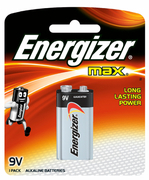 9V Alkaline Batteries - Max