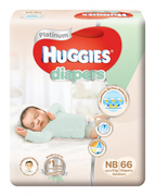 Platinum New Born Diapers 66s Up to 5kg