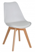 Dining Chairs with Cushion - White 2pcs