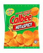 Hot & Spicy Potato Chips 80g (#)