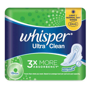 Ultra Clean Sanitary Napkins Wings Light/Normal Day 22cm 18s