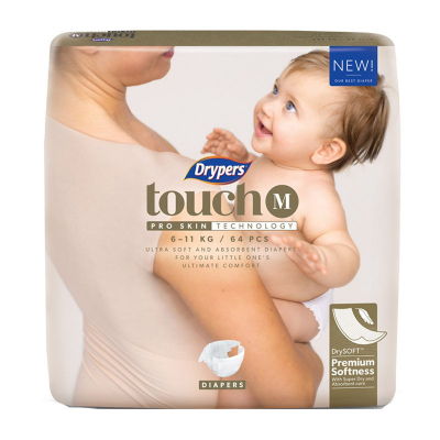 Touch Diapers M 64s 6-11kg (#)