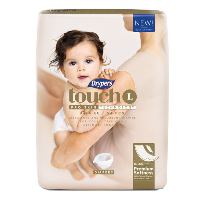 Touch Diapers L 54s 9-14kg
