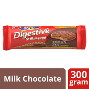 Digestive Wheat Biscuits Coated With Milk Chocolate 300g