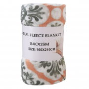 Coral Fleece Blanket Floral 160X210cm