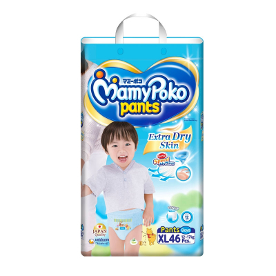 Extra Dry Pants Diapers For Boys 46s XL 12-17kg (#)