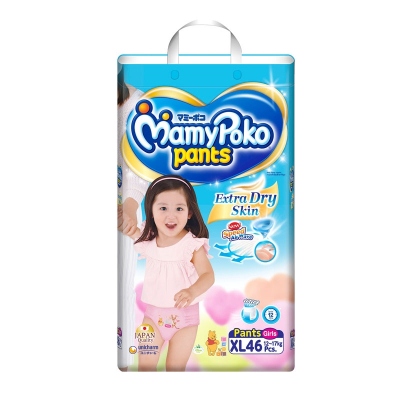 Extra Dry Pants Diapers For Girls 46s XL 12-17kg (#)
