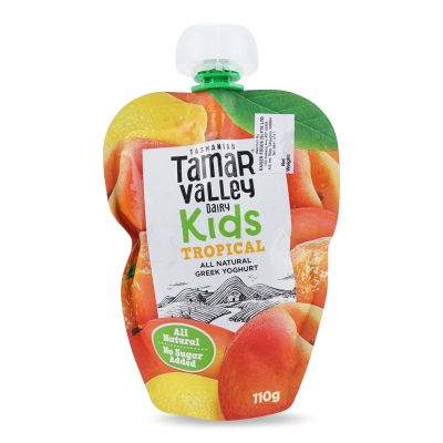 Kids Natural Greek Yoghurt Pouch Tropical 110g