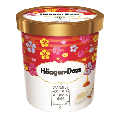 Ice Cream - Caramel & Mochi Bites 473ml