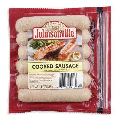 Cooked Sausages With Lemon and Black Pepper 396g