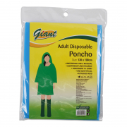 Poncho Disposable - Adult 130cmX100cm