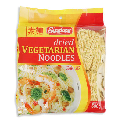 Dried Vegetarian Noodles (Thin) 500g