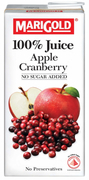 100% Juice Apple Cranberry 1L