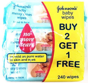 Baby Wipes - Messy Times Fragrance Free 3X80s (#)