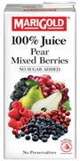 100% Juice Pear & Mixed Berries 1L