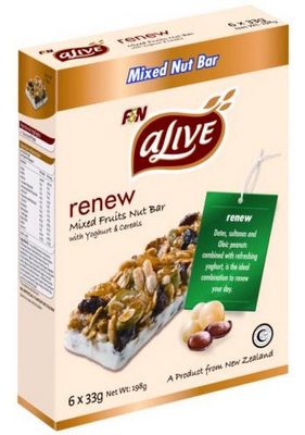 Renew Mixed Fruits Nut Bar With Yoghurt & Cereal 6sX33g