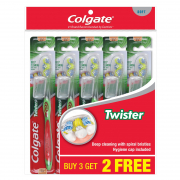 Toothbrush Twister With Cap Soft 5s