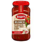 Pasta Sauce - Bolognese With Mushroom, Chunky Tomatoes & Herbs 500g