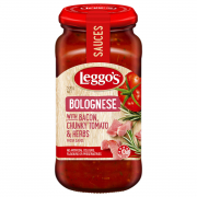 Pasta Sauce - Bolognese With Bacon, Chunky Tomatoes & Herbs 500g