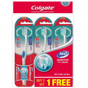 Toothbrush 360 Sensitive Pro-relief Ultra Soft 3s