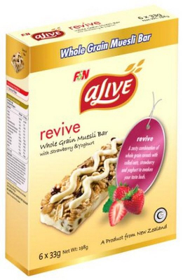 Revive Whole Grain Muesli Bar With Strawberry & Yoghurt 6sX33g