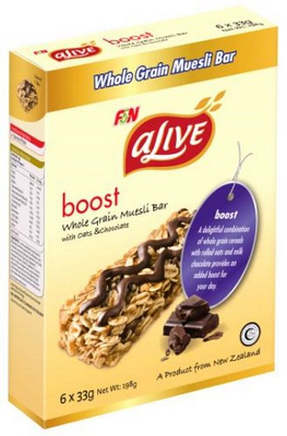 Boost Whole Grain Muesli Bar With Oats & Chocolate 6sX33g