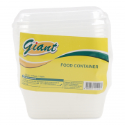 Plastic Food Container Square 10s 330ml   (#)