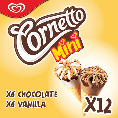 Ice Cream Mini Cone - Chocolate & Vanilla 12sX28ml