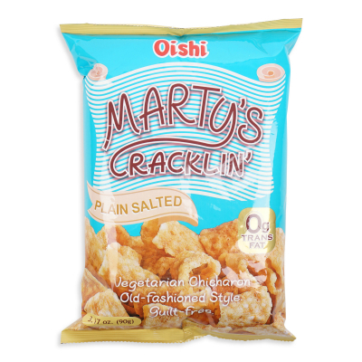 Marty's Cracklin' Plain Salted 90g