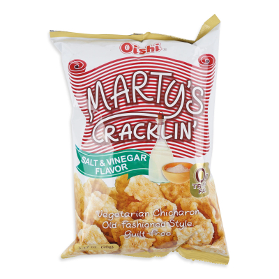 Marty's Cracklin' Salt & Vinegar 90g