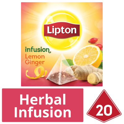 Pyramid Tea Herbal Infusion - Lemon Ginger 20sX2g