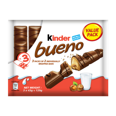 Bueno Chocolates Value Pack 3sX42g
