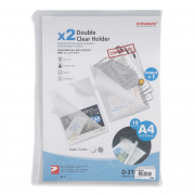 Double Clear Holder L-Shaped A4 D310 10s