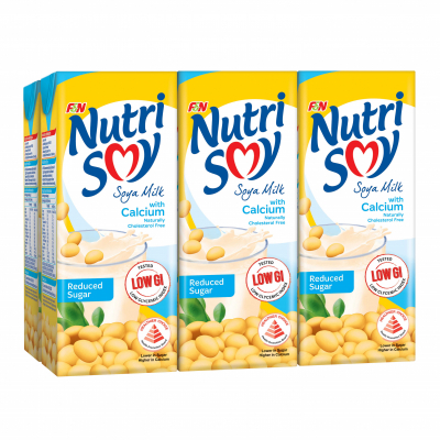 Soya Milk With Calcium & Reduced Sugar 6sX250ml