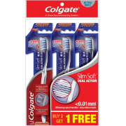 Toothbrush Slim Soft Dual Action Ultra Soft 3s