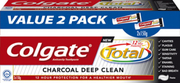 Total 12 Toothpaste - Charcoal Deep Clean 2sx150g