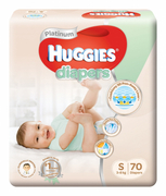 Platinum Diapers 70s S 3-8Kg (#)