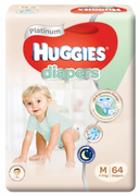Platinum Diapers 64s M 7-11Kg