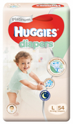 Platinum Diapers 54s L 10-14Kg