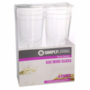 5oz Plastic Wine Glass 6pcs