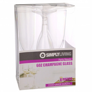 6oz Plastic Champagne Glass 6pcs