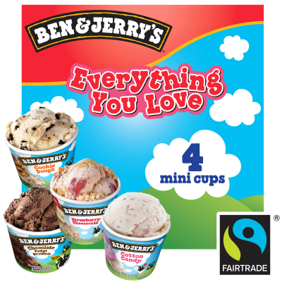 Ice Cream Mini Cups - Everything You Love 4sX120ml