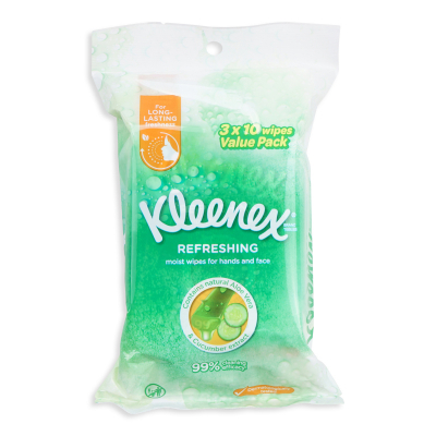 Refreshing Wet Wipes 3X10Sheets