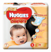 Gold Tapes Diapers S 72s 3-7kg