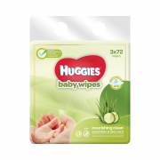 Baby Wipes Nourishing Clean - Cucumber & Aloe Vera 3X72s