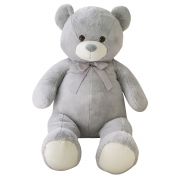 Giant Bear With Ribbon 100cm Grey